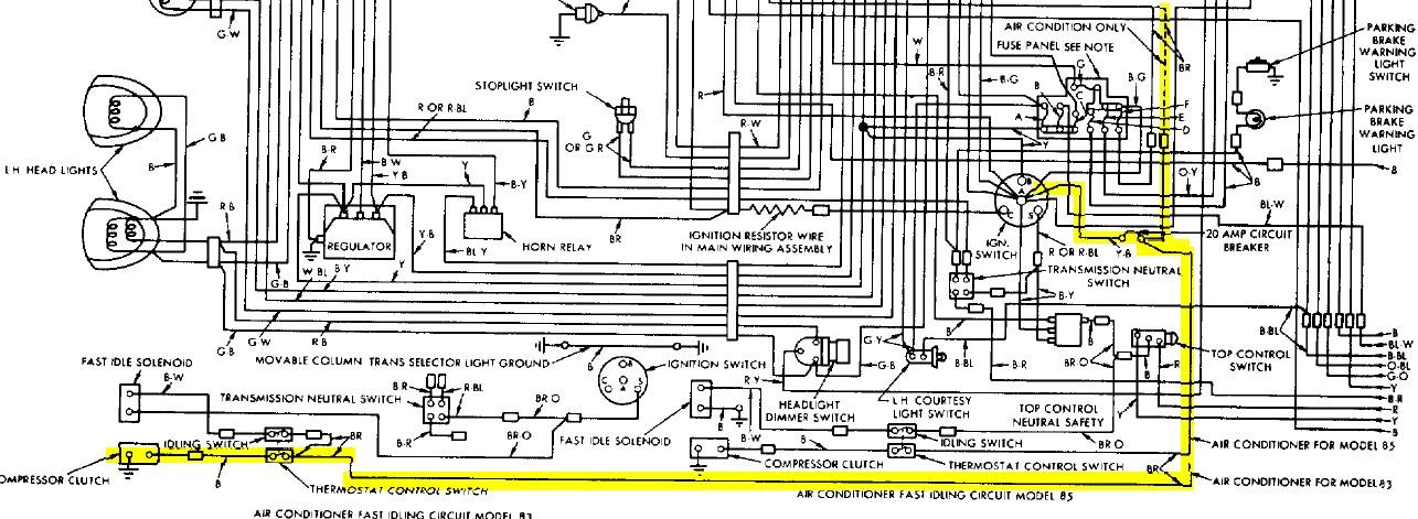 1955 T Bird Wiring Diagram 1955 55 Ford Thunderbird T