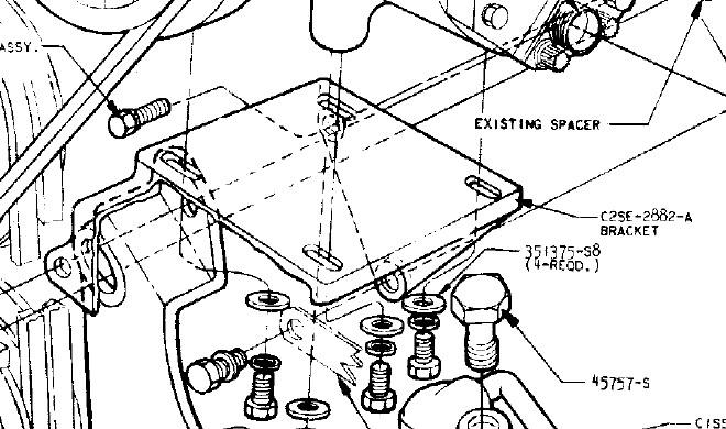 62 Air Conditioning Compressor Bracket