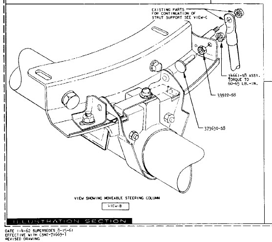 swing away steering column