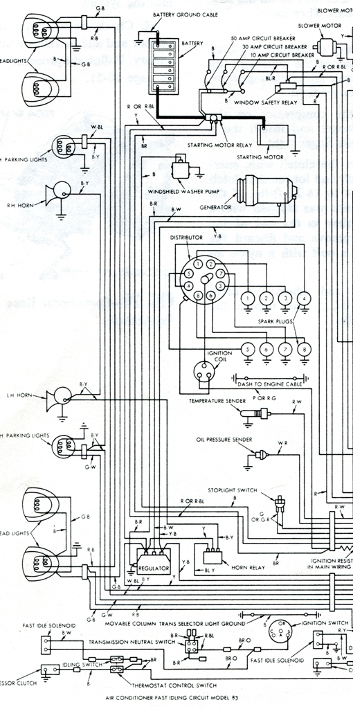Starting wiring diagram - Vintage Thunderbird Club International on