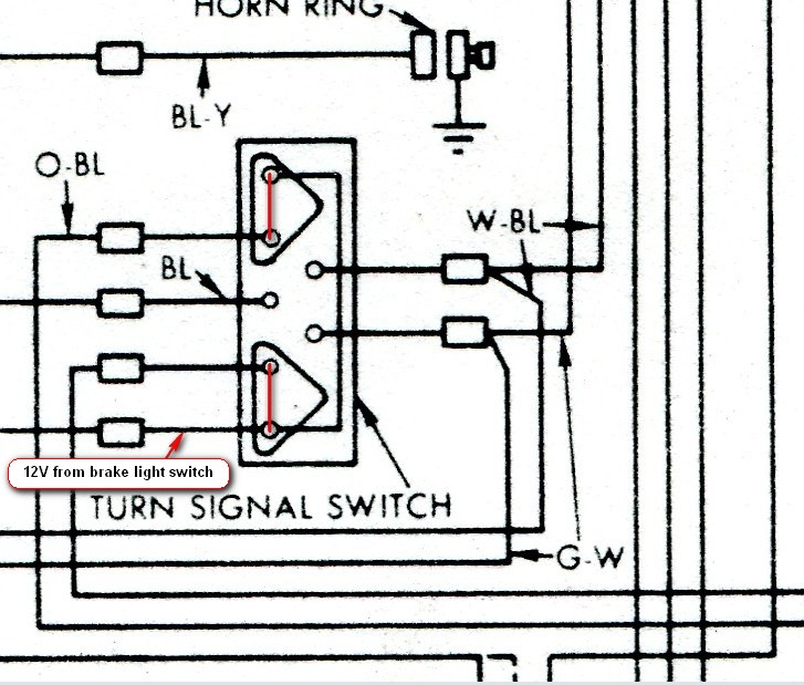 turnsignaloff2 brake lights, '62 vintage thunderbird club international 1955 thunderbird turn signal wiring diagram at alyssarenee.co