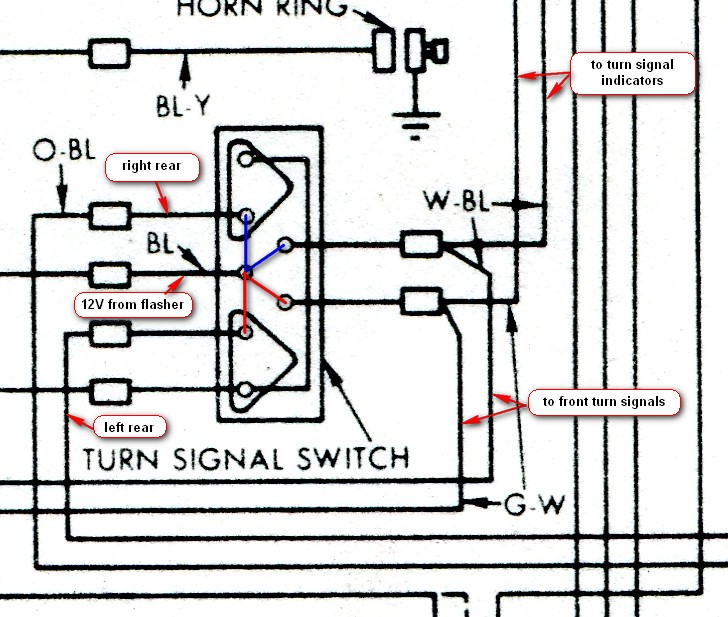 turnsignalon brake lights, '62 vintage thunderbird club international 1955 thunderbird turn signal wiring diagram at alyssarenee.co