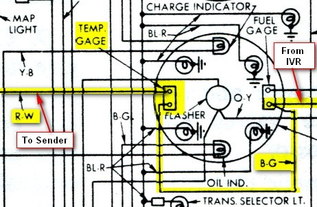 tempgauge temperture gauge vintage thunderbird club international Equus Fuel Gauge Wiring Diagram at bakdesigns.co