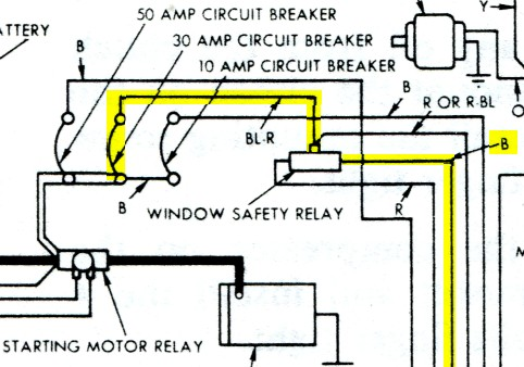 Windowrelay on 1957 Thunderbird Wiring Diagram